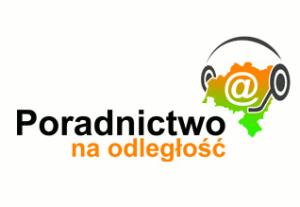 """logo projektu """"Poradnictwo na odległość"""", po kliknięciu w osobnej karcie otwiera się strona internetowa projektu"""